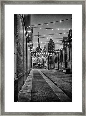 Bw City Lights Framed Print