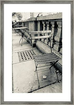 Framed Print featuring the photograph Byrant Park by Geraldine Gracia