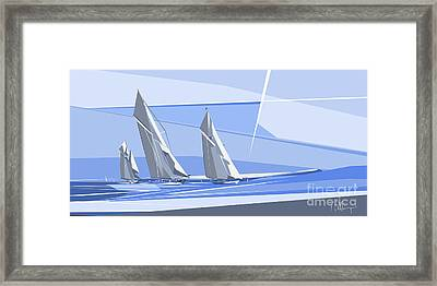 C-class Yachts Framed Print