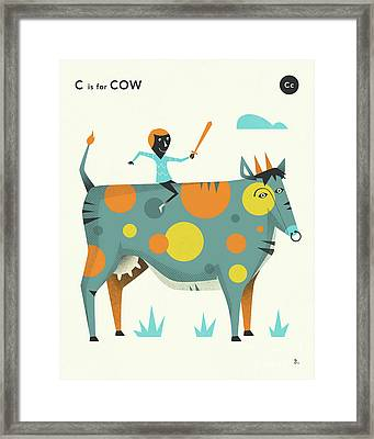C Is For Cow 2 Framed Print