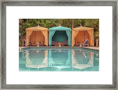 Framed Print featuring the photograph Cabanas by Alison Frank