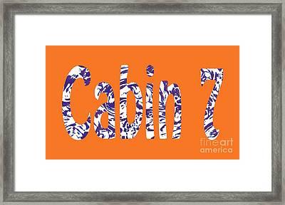 Cabin 7 Blue White Orange Framed Print