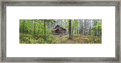 Framed Print featuring the photograph Cabin In The Forest by Pierre Leclerc Photography