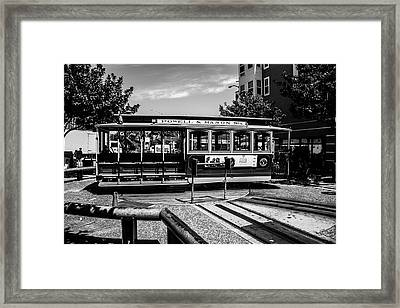 Cable Car Turn Around Framed Print