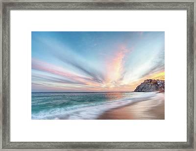 Cabo San Lucas Beach Sunset Mexico Framed Print