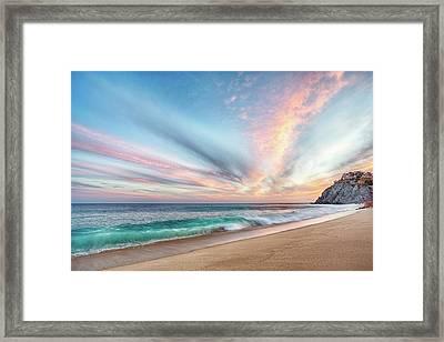 Cabo San Lucas Beach Wave Sunset Framed Print