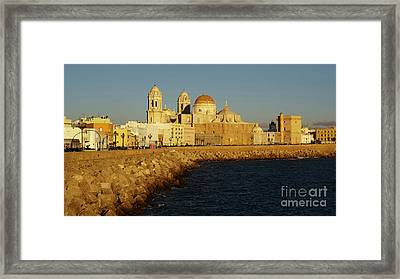 Framed Print featuring the photograph Cadiz Cathedral From Southern Field Spain by Pablo Avanzini