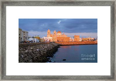 Framed Print featuring the photograph Cadiz Skyline And Cathedral Andalucia Spain by Pablo Avanzini