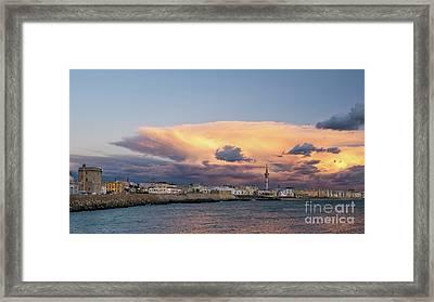 Framed Print featuring the photograph Cadiz Skyline Under Cumulonimbus by Pablo Avanzini