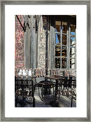 Framed Print featuring the photograph Cafe St. Regis - Paris, France by Melanie Alexandra Price