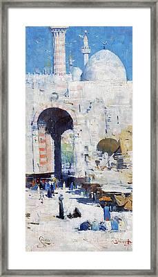 Cairo Street Mosque Sultan Hassan Art Print or Canvas Arthur Streeton Egypt