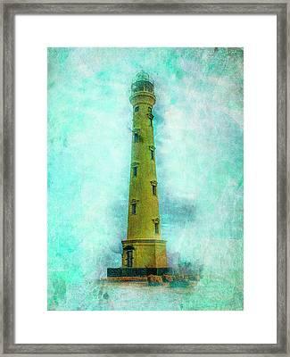 California Lighthouse Aruba Framed Print