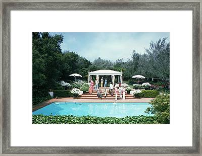 California Pool Party Framed Print