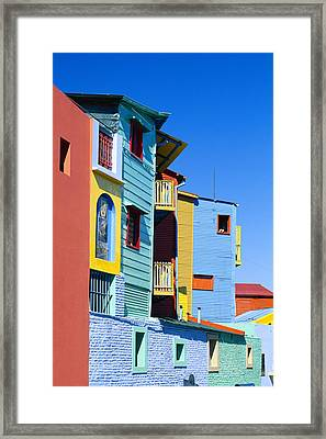 Caminitas La Boca District, Buenos Framed Print by Brand X Pictures