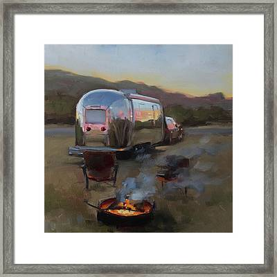 Campfire At Palo Duro Framed Print