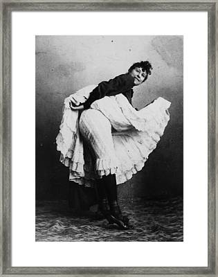 Can-can Dancer Framed Print by Hulton Archive