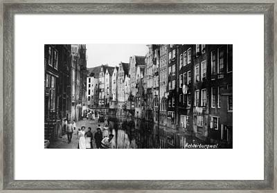 Canalside Houses Framed Print by Hulton Archive
