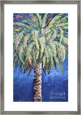 Canary Island Palm- Warm Blue I Framed Print