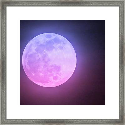 Cancer Super Wolf Blood Moon Near Eclipse Framed Print