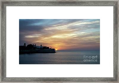 Framed Print featuring the photograph Candelaria Bulwark At Sunset Cadiz Spain by Pablo Avanzini