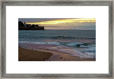 Framed Print featuring the photograph Candelaria Bulwark From Saint Philippe Cadiz Spain by Pablo Avanzini