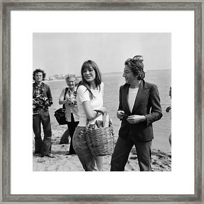 Cannes Film Festival In 1974 Framed Print by Gilbert Tourte