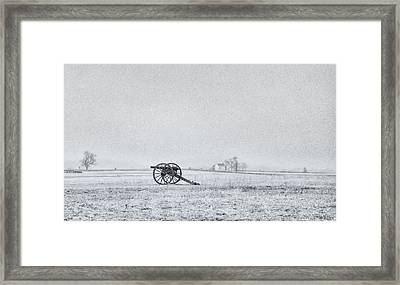 Cannon Out In The Field Framed Print