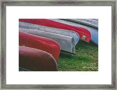 Canoes Framed Print
