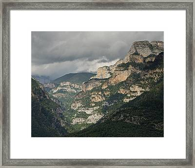 Framed Print featuring the photograph Canyon Anisclo by Stephen Taylor