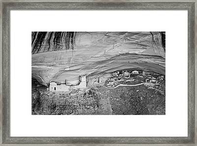 Framed Print featuring the photograph Canyon De Chelly V Bw by David Gordon