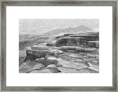Canyons Of Yellowstone National Park Framed Print by Kean Collection