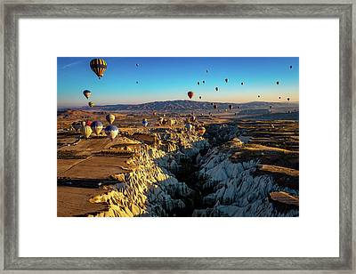 Framed Print featuring the photograph Capadoccia by Francisco Gomez