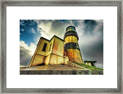 Cape Disappointment Lighthouse Under Dramatic Skies Framed Print
