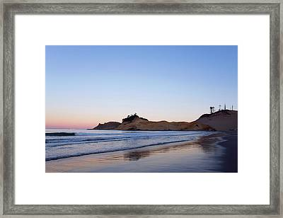 Framed Print featuring the photograph Cape Kiwanda Oregon Sunrise 101618 by Rospotte Photography
