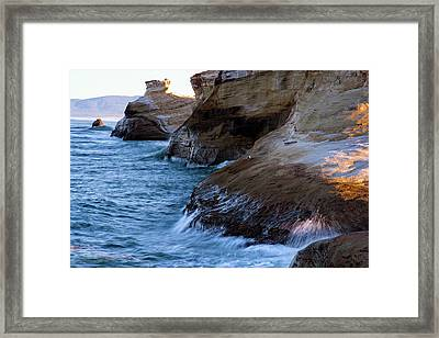 Framed Print featuring the photograph Cape Kiwanda Pacific City Oregon 101818 by Rospotte Photography