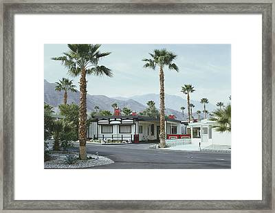 Capotes House Framed Print by Slim Aarons