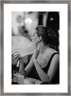 Capucine Framed Print by Slim Aarons