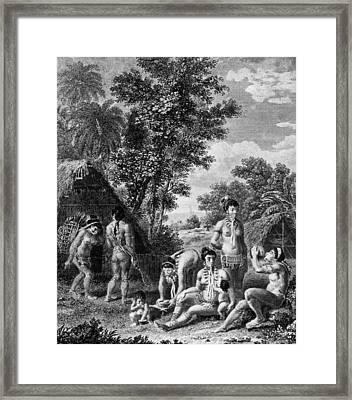 Carib Family Framed Print by Hulton Archive