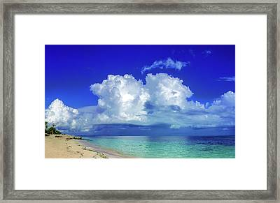 Caribbean Clouds Framed Print