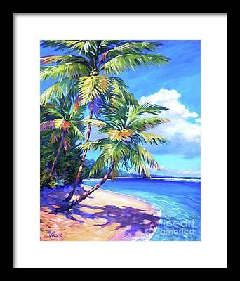 Trinidad Beach Paintings Framed Prints