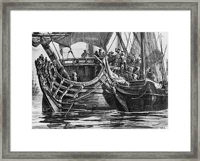 Caribbean Pirate Framed Print by Hulton Archive