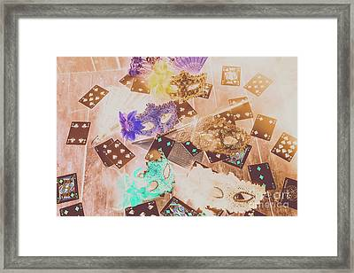 Carnival Of Cards Framed Print