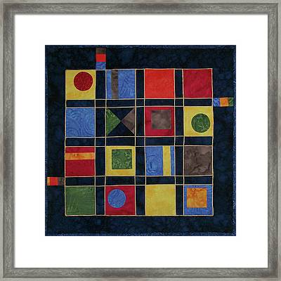 Carnival Of Colors Framed Print