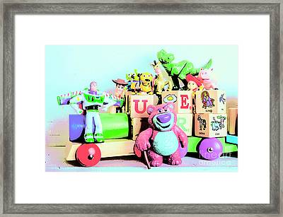 Carriage Of Cartoon Characters Framed Print