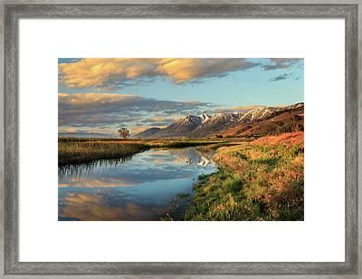 Carson Valley Sunrise Framed Print