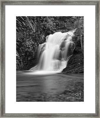 Framed Print featuring the photograph Cascade 1 Bw by Patrick M Lynch