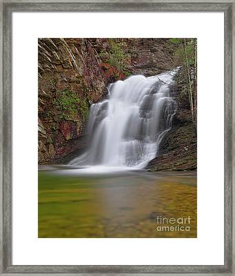 Framed Print featuring the photograph Cascade 1 by Patrick M Lynch