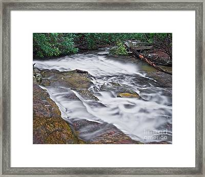 Framed Print featuring the photograph Cascade 3 by Patrick M Lynch