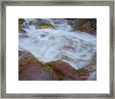 Framed Print featuring the photograph Cascade 4 by Patrick M Lynch