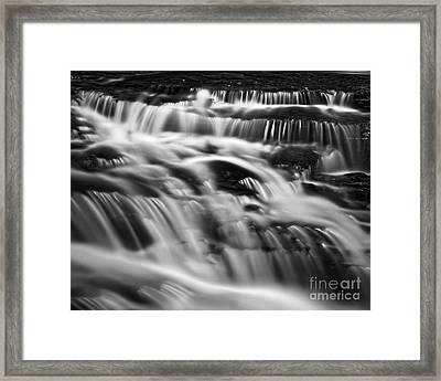 Framed Print featuring the photograph Cascade 5 Bw by Patrick M Lynch